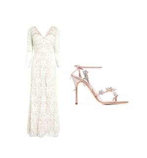 Dress, £395, next.co.uk Shoes, £995 by Manolo Blahnik from brownsfashion.com