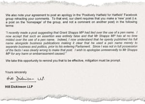 Letters from Shapp's law firm