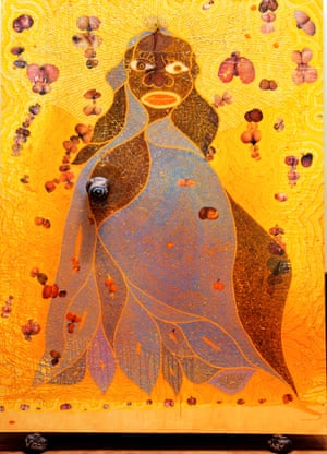 Guiliani tried to ban … Chris Ofili's The Holy Virgin Mary