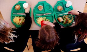 Declining numbers of children are eligible for free school dinners in inner London.