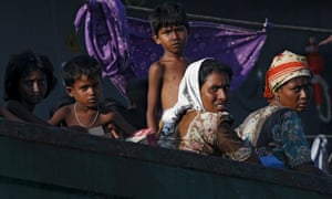 A boat crammed with migrants