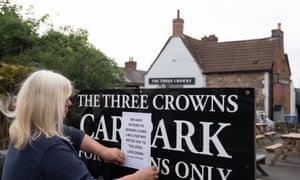 Sign outside pub