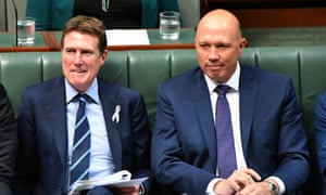 Attorney general Christian Porter and home affairs minister Peter Dutton