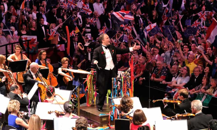 Sakari Oramo, the BBC Symphony Orchestra's Finnish-born chief conductor, conducts 2017's Last Night of the Proms at the Royal Albert Hall