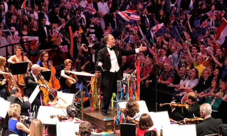 'Streamers, silliness and flags of every colour' ... Sakari Oramo conducts the Last Night of the Proms