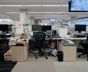 Inside the Washington Post newsroom, Washington DC, US