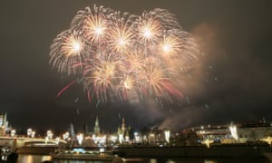 Fireworks over central Moscow.