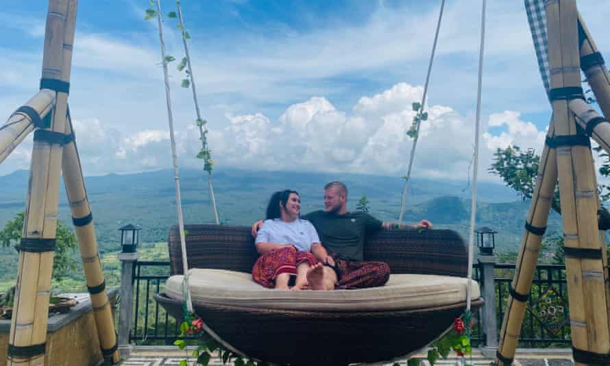 Abby Reynolds and Jake Deane in Bali