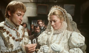 Vanessa Redgrave as Mary, and Timothy Dalton as Lord Darnley in the 1971 film Mary, Queen of Scots.