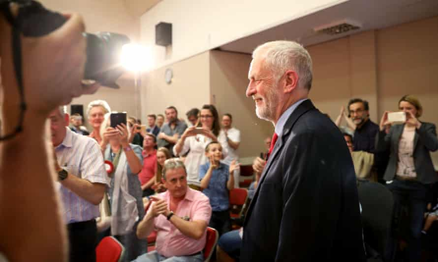 Jeremy Corbyn arrives to deliver a speech on Labour's plan for Brexit negotiations at Pitsea leisure centre on 1 June.