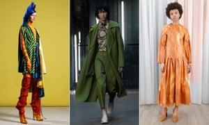 Looks from Chinese fashion designers Shuting Qiu, Pronounce and Xu Zhi.