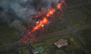 A 600m long fissure erupts within the Leilani Estates subdivision, on the east rift zone of the Kilauea volcano threatening homes of hundreds