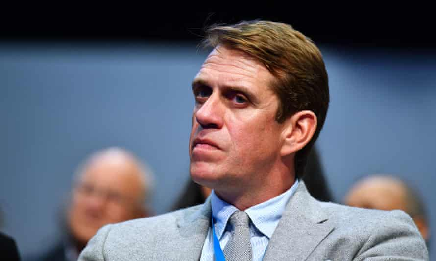 Ben Elliot, co-chairman of the Conservatives, at the party's annual conference in Manchester.