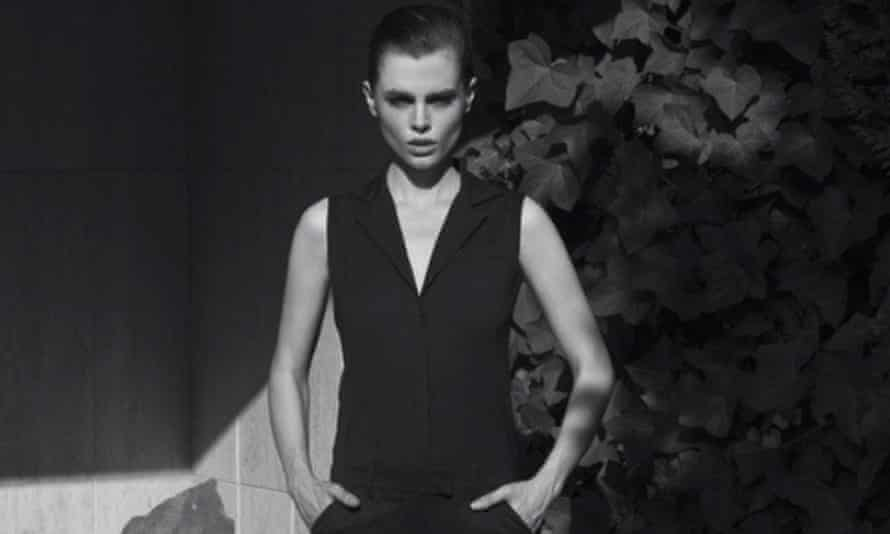 Slim pickings: Charli Howard modelling in 2013. She was a size 6 and had eaten cotton wool soaked in orange juice to lose weight.