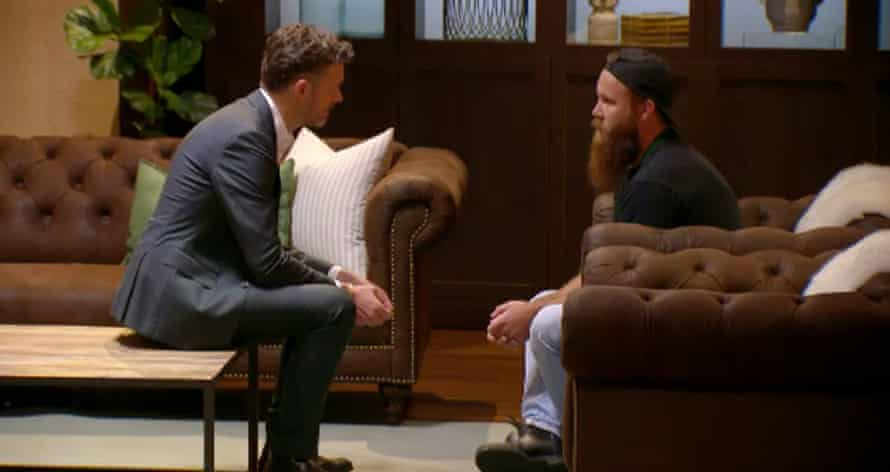 Brent Draper tells judge Jock Zonfrillo he is leaving MasterChef Australia