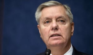 Lindsey Graham speaks on Capitol Hill in Washington.