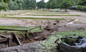 The clean-up operation has begun at Lyme Park