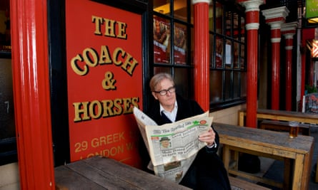 Robert Bathurst takes on the role in Jeffrey Bernard is Unwell at the Coach & Horses in Greek Street, Soho