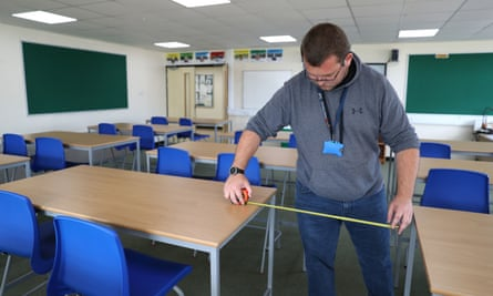 Preparations are made for the new school term in Hampshire.