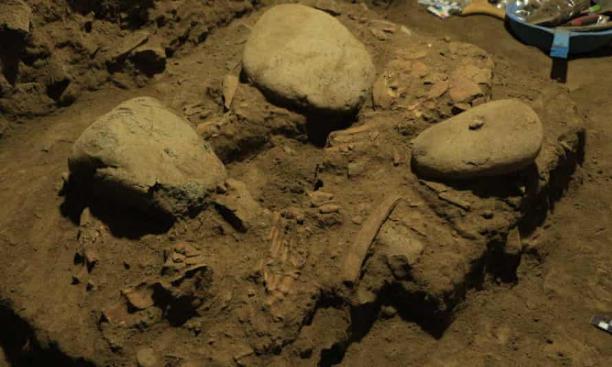The skeletal remains of the ancient Toalean woman