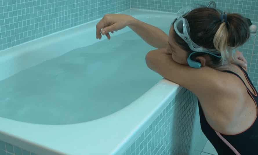 Dive in ... Swimming Home requires its audience to wear swimming costumes and goggles to the bathroom.