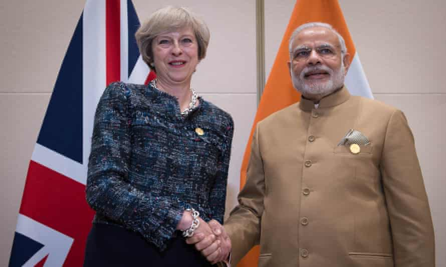 Theresa May with her Indian counterpart, Narendra Modi, earlier this year.
