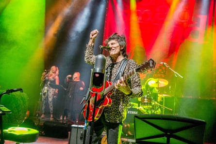 Ronnie Wood with his Wild Five.