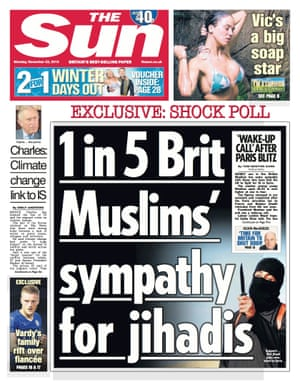The Sun front page from 23 November 2015.