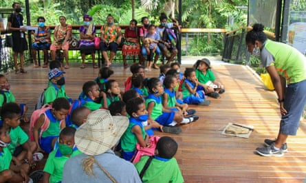 Schoolchildren at the Port Moresby nature park