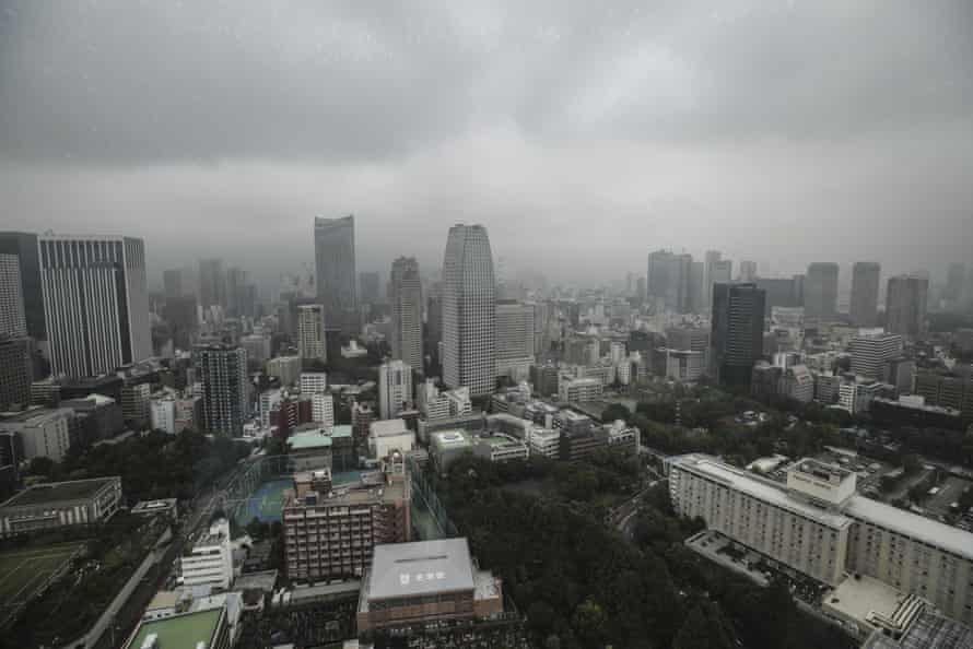 An anticyclone in the Sea of Okhotsk has cast unprecedented amounts of cloud over Tokyo.