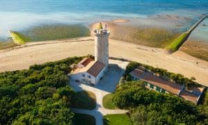The Tour des Baleines lighthouse and museum on the Île de Ré.