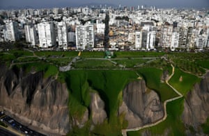 Residential tower blocks in Lima, South America's second most populous city