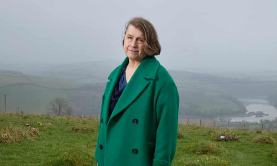 Sophie Pierce, photographed at the site of her son, Felix's burial place, Sharpham Meadow, Totnes, Devon