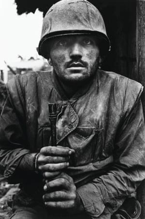 Shell-shocked US marine, The Battle of Hue, 1968, Don McCullin