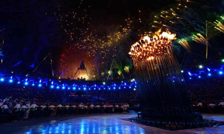 London's Olympic flame.