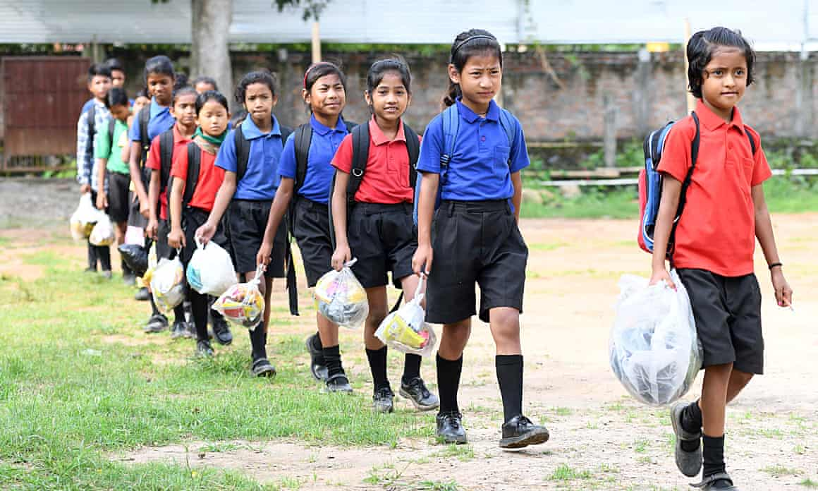 One of this week's heartening stories: the Indian schoolchildren who collect discarded plastic in lieu of school fees