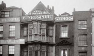 View of the Paul Pindar Tavern, Bishopsgate, 1878.