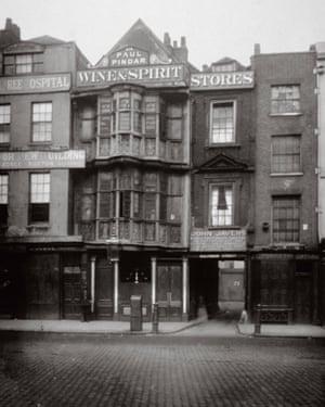 The Paul Pindar Tavern, Bishopsgate, London, 1878.