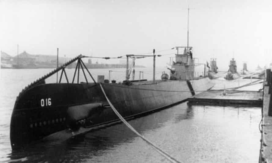 The Dutch submarine HNLMS O 16, which was sunk by Japanese mines in the South China Sea in December 1941.