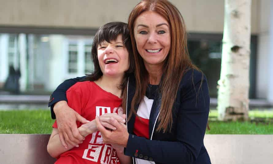 Charlotte Caldwell and her son Billy, whose supply of cannabis oil used to treat severe epilepsy was confiscated on their return from Canada.