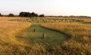 Woodhenge, inside the recently discovered ring of shafts at Durrington, Wiltshire.