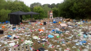 Aftermath of a lockdown rave at Daisy Nook