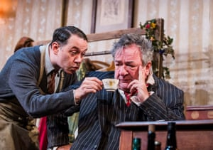 Reece Shearsmith as Norman and Ken Stott as Sir in Sean Foley's acclaimed revival of The Dresser at the Duke of York's in London in 2016.