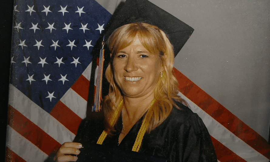 A portrait photo of college student Jen Wilson the day she graduated from the now-defunct Everest University, a for-profit college.