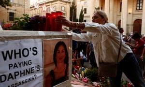 A memorial to the assassinated investigative journalist Daphne Caruana Galizia