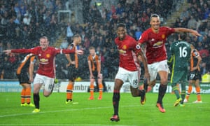 Wayne Rooney and Zlatan Ibrahimovic, seen here celebrating Marcus Rashford's goal against Hull City, are still a work in progress as a striking force.