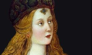 Lucrezia Borgia, in a fresco by Pinturicchio