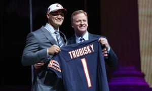 Mitchell Trubisky's selection was met with surprise by many Bears fans