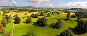 Berrington Hall's 450 acres of in Herefordshire parkland.