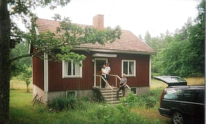 Many Swedish families have a second home. This is Jakob's family cabin. There was no TV and in the evening we sat and read while deer wandered through the garden. One night, Jakob took us for a walk to spot glow worms. I replaced the glow worms with phosphorescence in Sunkissed.
